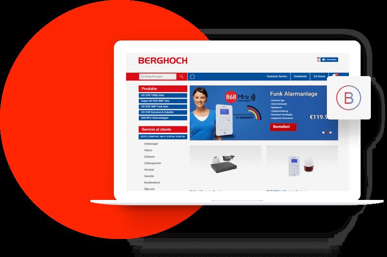 Berghoch - PSD to Opencart Portfolio