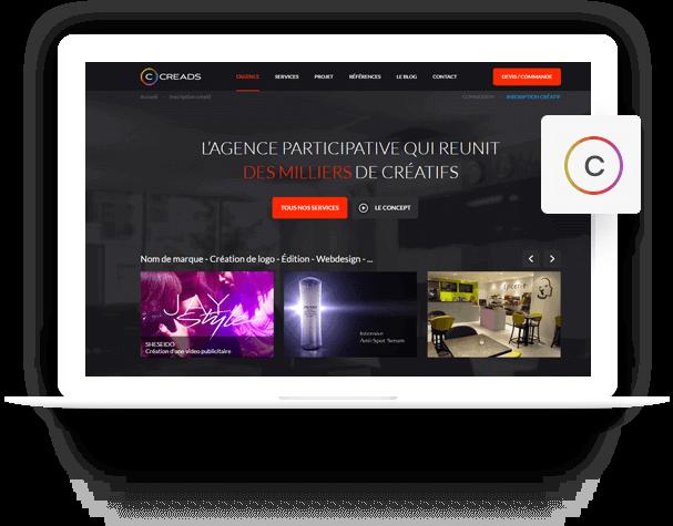 Creads - PSD to HTML Portfolio