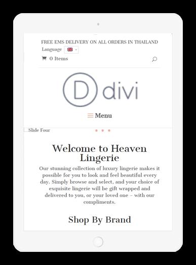 Heaven Lingerie iPad