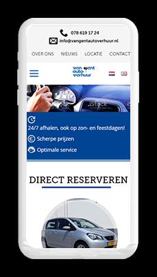 Van Gent Car Rental iphone
