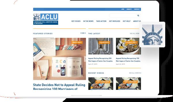 ACLU - PSD to Drupal Portfolio