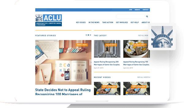 ACLU - Drupal Development Portfolio