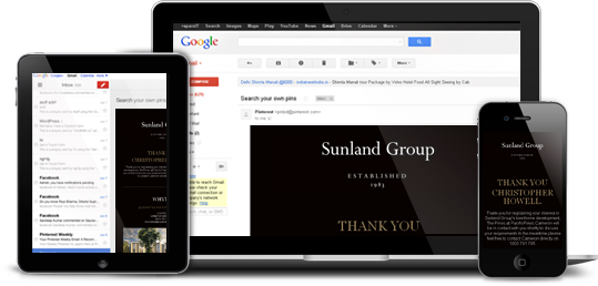 sunland Group - PSD to HTML Project