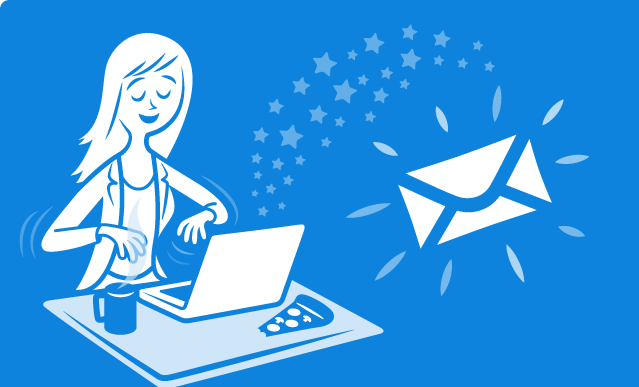Give attention to the email template layout