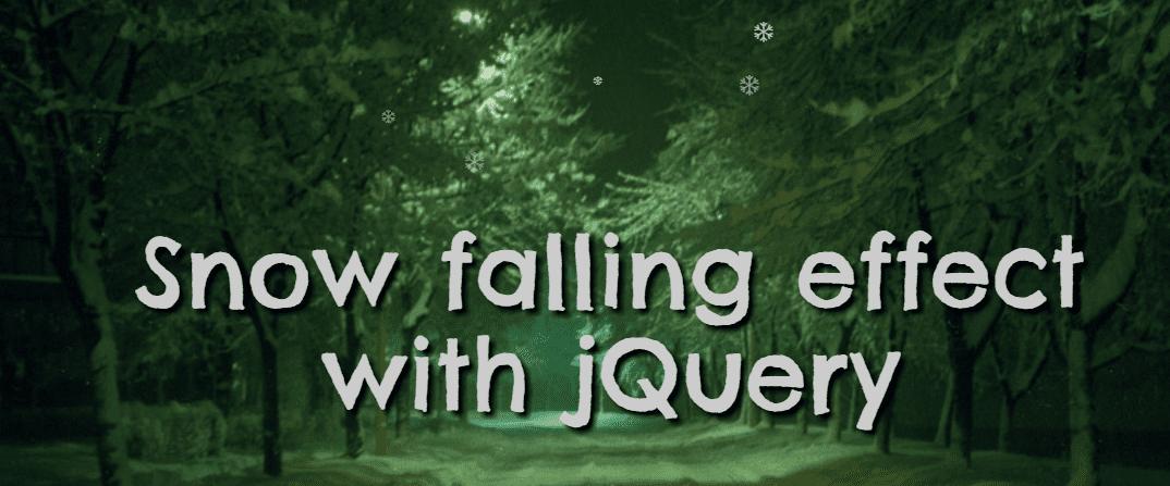 jQuery Snow falling plugin
