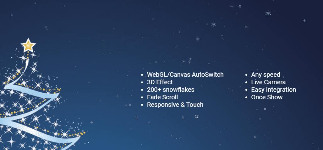 snow 3D -Christmas plugin