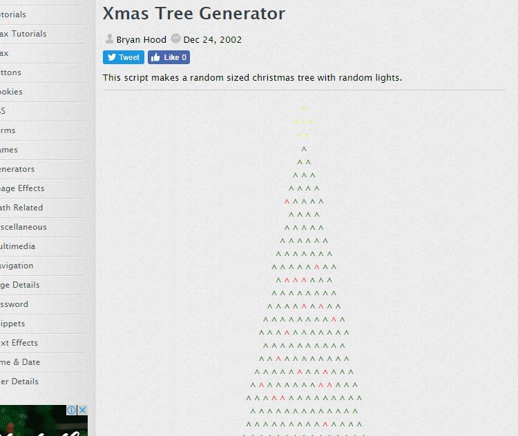 xmas tree generator