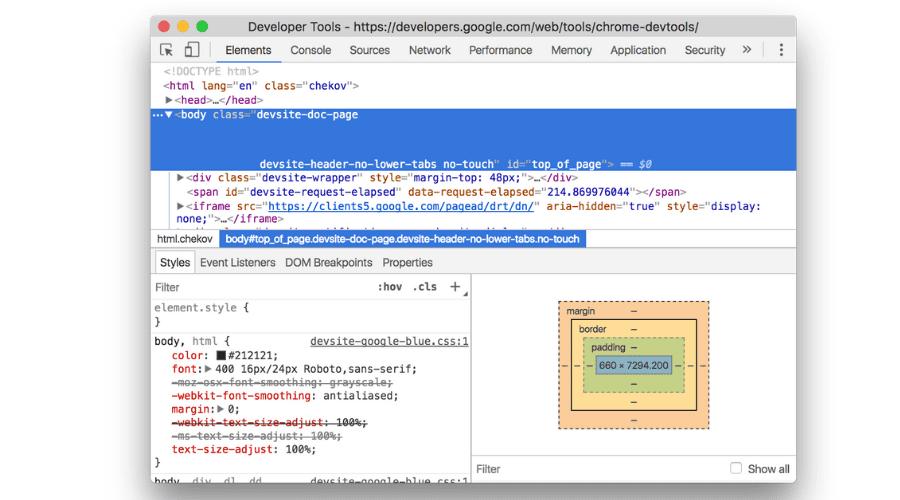 Chrome Developer Tool - HTMLPanda