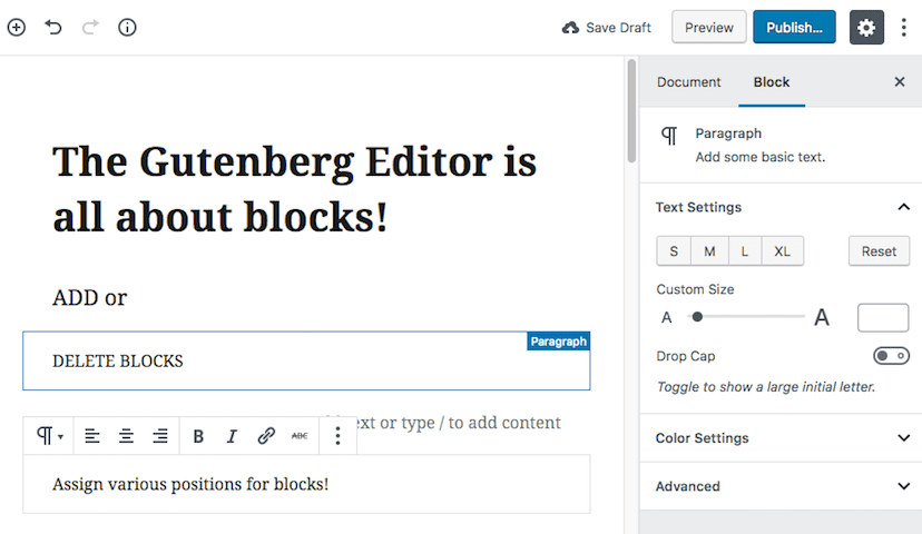 How does Gutenberg Editor Work