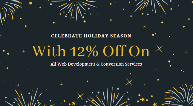 2020 New Year and Holiday Season Offer - HTMLPanda