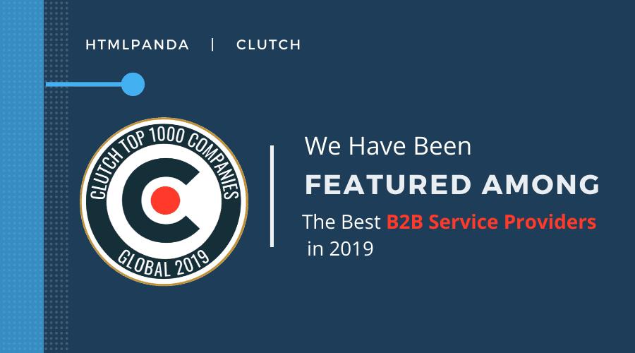 Clutch Top 1000 B2B Companies 2019 - HTMLPanda